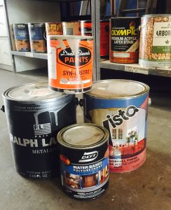 House Painters Recommend that you do NOT store paint cans in your garage